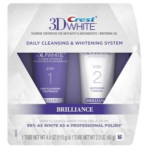Crest 3D White Brilliance Daily Cleansing Toothpaste and Whitening Gel System, 2.3 oz