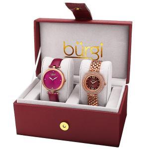 Set đồng hồ Burgi Women's BUR152RG Analog Display Quartz Brown Watch