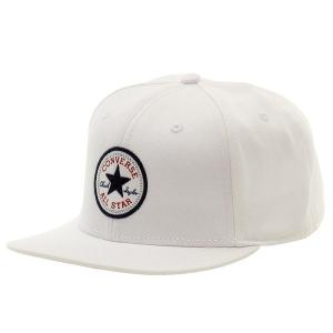 Converse Mens Chuck Taylor All Star Patch Snapback Flat Brim Hat WHITE CON033-WHITE