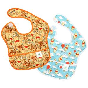 Bumkins Disney Baby Waterproof SuperBib 2 Pack, Winnie the Pooh (Woods/Balloon)
