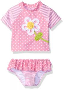 Little Me Baby Girls' Two-Piece Rashguard Swimsuit UPF 50+