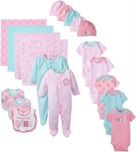 Gerber Baby Girls' 19 Piece Newborn Essentials Gift Set