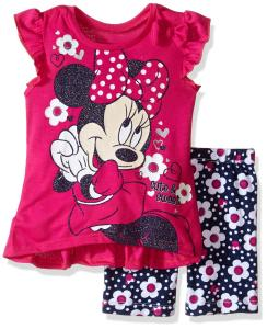Disney Baby Girls' Minnie Mouse Bike Short Set with Top