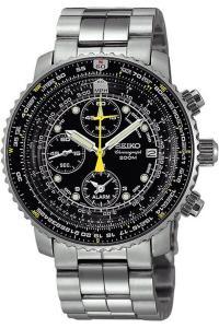 SEIKO SNA411P1 Men's Pilot Watch Alarm Chronograph 100m WR SNA411