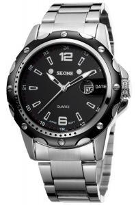 Findtime® Black Mens Calendar Luminous Steel Quartz Wrist Watches