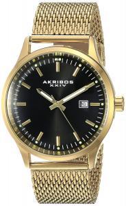 Akribos XXIV Men's AK901YGB Stainless Steel Three Hand Watch