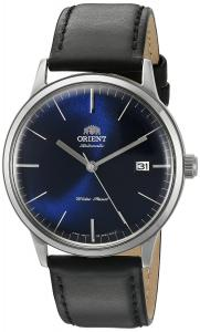 Orient Men's 'Bambino Version 3' Japanese Automatic Stainless Steel and Leather Dress Watch, Color:Black (Model: FER2400LD0)