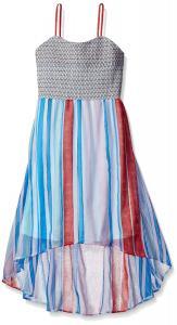 Jessica Simpson Girls' Sierra Stripe High Low Dress