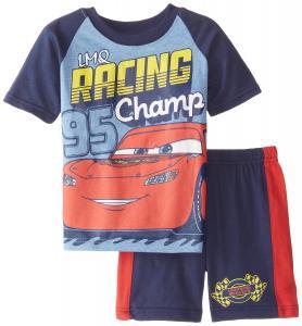 Disney Cars Boys' Disney's Short Sleeve Tee and Jersey Short 2-Piece Set