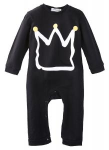 2016 Newborn Toddler Baby Girls Boys Crown Romper Jumpsuit Playsuit Outfits Clothes