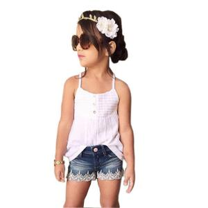 Hatop Kids Baby Girls Outfits Set Tank Top T-shirt Dress+Jeans Pants Clothes