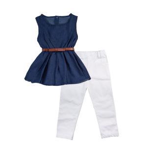 Miniowl Girls' 3PCS Clothing Set Tank Top And Leggings