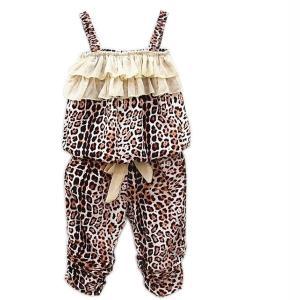 Hot Children's Baby Girls Summer Clothes Leopard Vest+pants Sets Outfits 2pcs