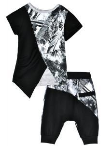 LaLaMa Kids Clothes Spots Harem Pants Casual Boys Outfits Sets Top T-Shirt 1-7Y
