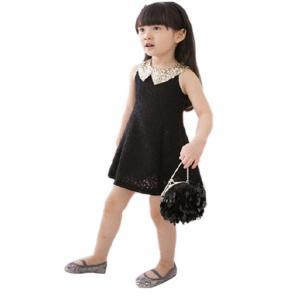 PanDaDa Girls Chiffon Dots One Piece Dress Tunic Skirts Ruffled Sleeveless 1-6y