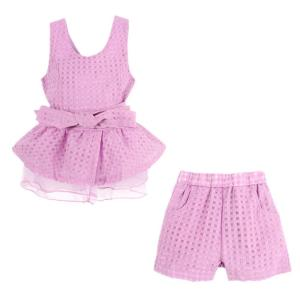 LittleSpring Little Girls' Clothing Set Plaid