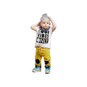 Gotd Newborn Toddler Baby Boys Letter Print Outfits T-shirt Tops+Pants Clothes