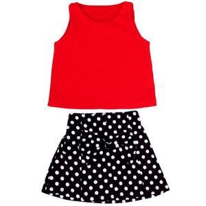 Baby Girls Kids Polka Dot One-pieces Dress Skirt Summer Dress Belt Clothing 2-6y