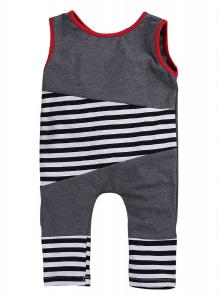 Lovely Baby Girls Boys Clothes Bodysuit Striped Romper Jumpsuit Playsuit Outfits