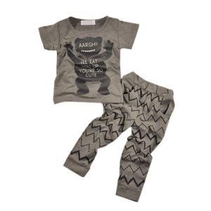 PanDaDa Baby Boys Giraffe T-shirt Tops Long Sleeve Pants Tracksuit Sport Suits
