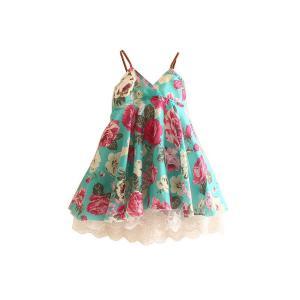 Mud Kingdom Girls' Floral Beach Sling Dress