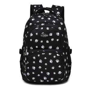 Dog Pawprint Cat Fingerprint Backpack for Elementary or Middle School Girls