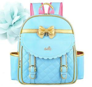 EURO SKY Children School Backpack Bags for Girls Students PU Leather