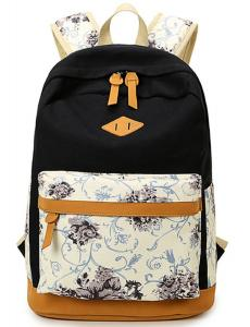 Leaper Lightweight Canvas Laptop Backpack Cute School Bag