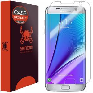 Galaxy S7 Edge Screen Protector, Skinomi® TechSkin (Case Friendly) Full Coverage Screen Protector for Galaxy S7 Edge Clear HD Anti-Bubble Film - with Lifetime Warranty