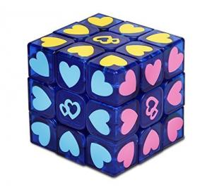 Playwin ® Love Cube Puzzle, New 3x3 Stickerless Speed Cube(Blue Color)