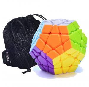 Aircee YJ Moyu Yuhu Megaminx Puzzle Cube Puzzle Stickerless With Bag