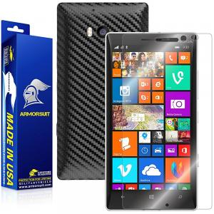 ArmorSuit MilitaryShield - Nokia Lumia 930 Screen Protector + Black Carbon Fiber Full Body Skin Protector / Front Anti-Bubble & Extreme Clarity HD Shield + Lifetime Replacement