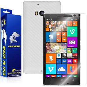ArmorSuit MilitaryShield - Nokia Lumia 930 Screen Protector + White Carbon Fiber Full Body Skin Protector / Front Anti-Bubble & Extreme Clarity HD Shield + Lifetime Replacement