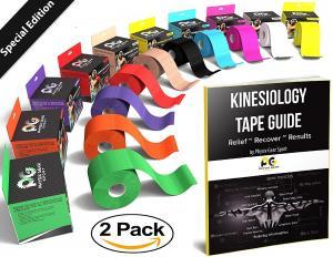 "Physix Gear Sport Kinesiology Tape 2"" x 16.5' Pro"