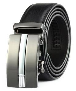 Squeple Man Belts Automatic Buckle 35MM Width Black Gift Box Package