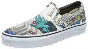 Vans Classic Slip On Unisex Shoes Black/80s Lips