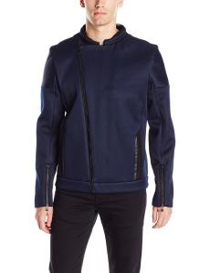 Calvin Klein Men's Twill Texture Moto Jacket