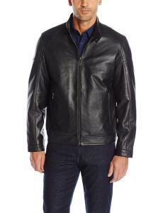 Calvin Klein Men's Slim Fit Basic Leather Jacket