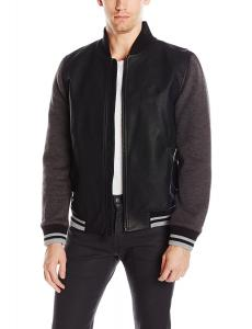 Calvin Klein Jeans Men's Mixed Guage Baseball Jacket