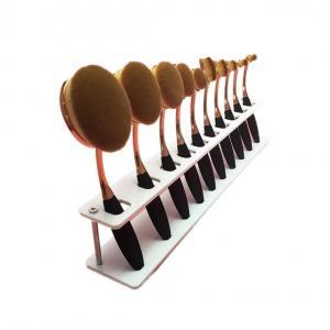 ABC® 10 PCS Brush Storange PlaceOrganizer Clear Acrylic 10 Lattices Cosmetic Display Shelf (White)