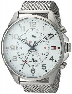 Tommy Hilfiger Men's Quartz Stainless Steel Casual Watch, Color:Silver-Toned (Model: 1791277)