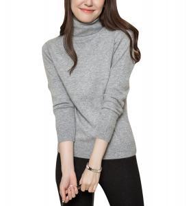 LongMing Women's Long Sleeve Warm Turtleneck Cashmere Sweater