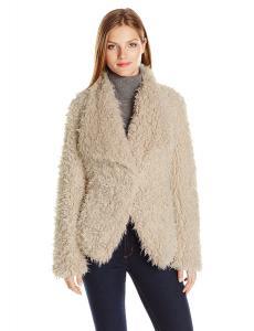 Betsey Johnson Women's Curly Lamb Faux Fur