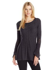 Heather B Women's Jewel Nk Cable a Line Tunic