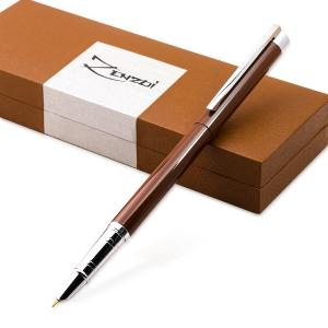 Fountain Pen [Chocolate Espresso Brown] with Ink Refill Converter and Gift Box - Timeless Classics Collection - Executive Writing Signature Calligraphy Pens Set For Standard Cartridges - 100% Warranty