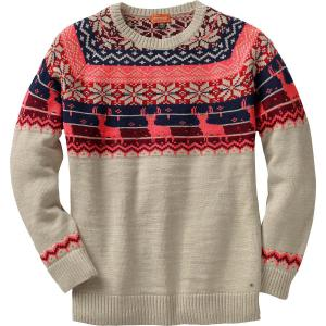 Legendary Whitetails Ladies Sleigh Ride Fair Isle Sweater