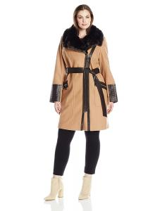 Via Spiga Women's Plus Size Kate Middelton Wool Coat