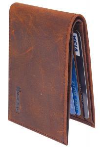 Simpac Ultimate Slim Mini Wallet Front Pocket Minimalist Wallet Bifold Genuine Leather RFID Blocking