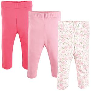 Luvable Friends 3-Pack Baby Girl Leggings