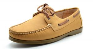 Bruno Marc MODA ITALY SUNSEEKER Men's Casual Loafers Two-Eye Contrasting Leather Lace Up Classic Driving Boat shoes